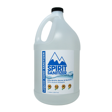 Spirit Liquid Hand Sanitizer - 1 Gallon