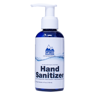 Spirit Hand Sanitizer - Pump Bottle - 4 Ounce