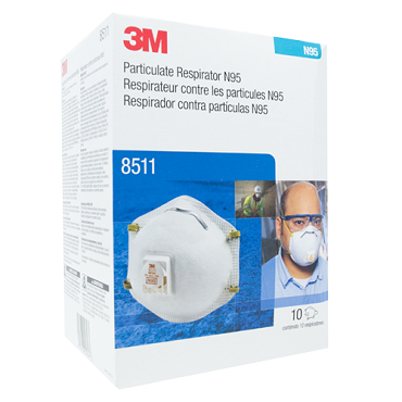 3M N95 8511 Particulate Respirator - 10 Pack