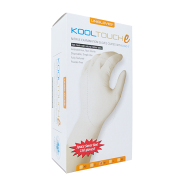 Unigloves KoolTouche Nitrile Examination Gloves - 150 Pack