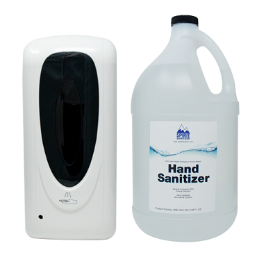 Touchless Dispenser & 1 Gal Sanitizer Bundle