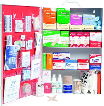 First Aid Kit - 4 Shelf w/Liner