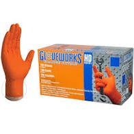Disposable Nitrile Gloves-Orange 8 mil