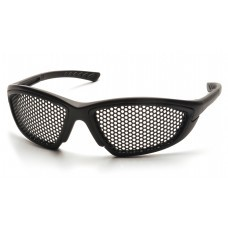 Pyramex Trifecta SB76WMD Safety Glasses - Black Frame - Punched Steel Lens - (Not for Electrical Use)