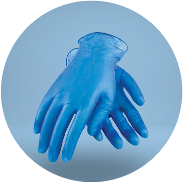 Disposable Vinyl Gloves - 100 Pack